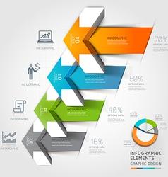 3d arrow business infographics vector image vector image
