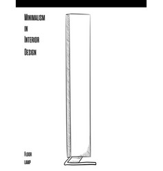 high rectangular floor lamp in a circuit on a vector image vector image