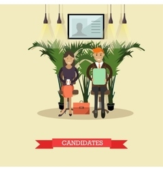 job candidates in flat vector image