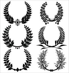 laurel wreaths set vector image vector image