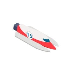 Speed boat isometric 3d icon vector image