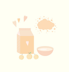 With yoghurt and apricots vector
