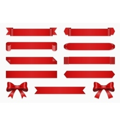 Anniversary ribbon set banner ribbons and vector image vector image