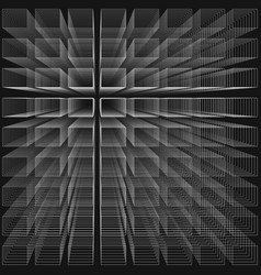 black color abstract infinity background 3d vector image vector image