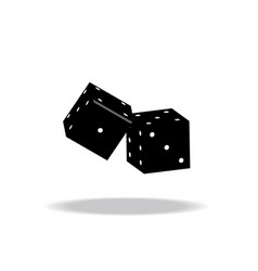 game dices isolated on white vector image vector image