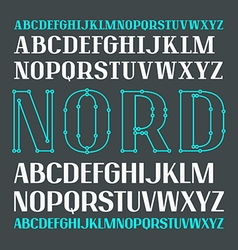 Set of uppercase contrast font vector image vector image