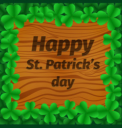st patrick s day party poster background vector image vector image