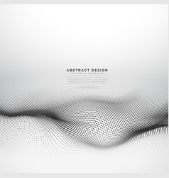 stylish wave mesh made with black dots particles vector image vector image