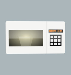 abstract creative funny cartoon microwave set vector image