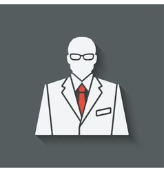businessman in suit and red tie avatar vector image vector image