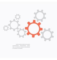 Flat design Gears concept vector image vector image