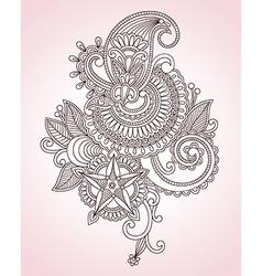 Flower Doodle Design Element vector image vector image