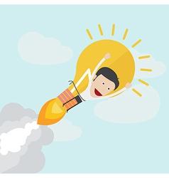 Idea rocket boot up vector image vector image
