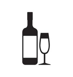 bottle glass cup drink beverage pictogram vector image vector image