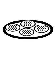 delicious sweet cookies icon vector image