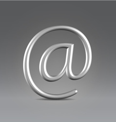 Email silver over gray vector image vector image