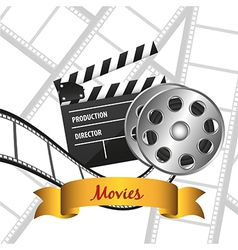 film background with icons vector image