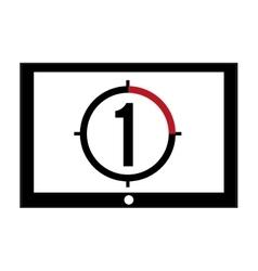 film leader countdown icon vector image
