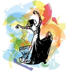 Flamenco woman dancer vector image
