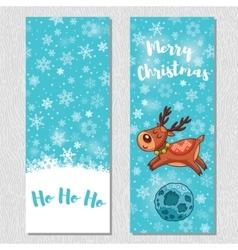 Merry christmas design vertical background set vector