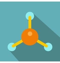 Molecule flat icon vector image