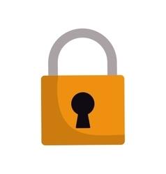 padlock lock security protection symbol vector image
