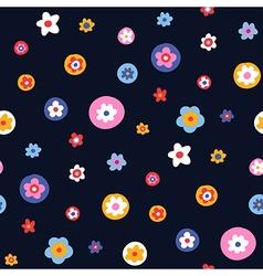 pattern floral simple big vector image vector image