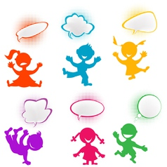 playful children vector image vector image