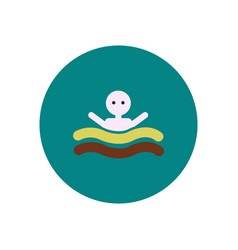 Stylish icon in color circle man swimmer vector
