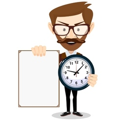 Teacher with a sheet timesheet vector image vector image