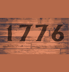 1776 independence day brand vector