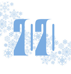 2020 snowflake vector image