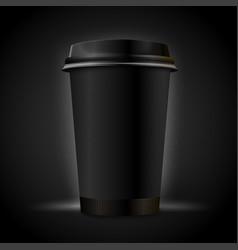 3d realistic luxury dark coffee cup vector image
