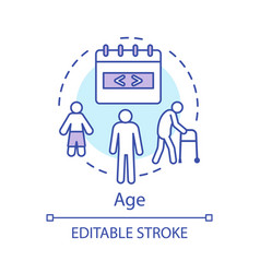 Age concept icon problem skin aging beauty vector