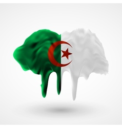 Algeria flag painted colors vector