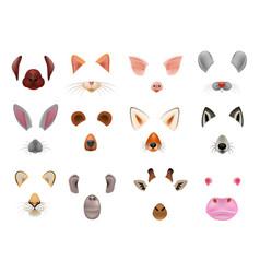 animal mask animalistic masking face of vector image