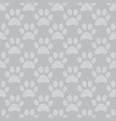 animal paw seamless gray pattern vector image