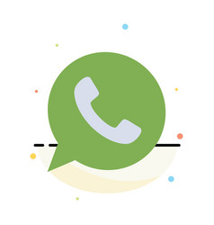 App chat telephone watts app abstract flat color vector