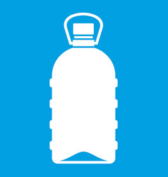 Big bottle icon white vector