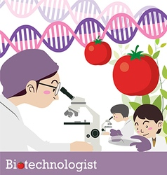 Biotechnologist occupation vector