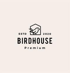 Bird house hipster vintage logo icon vector