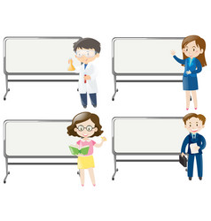 board template with people of different jobs vector image