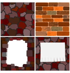 brick walls vector image