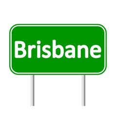 Brisbane road sign vector