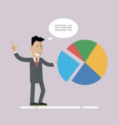 Businessman chart development vector
