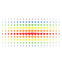 cardiology spectral halftone effect vector image