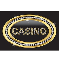 Casino sign vector