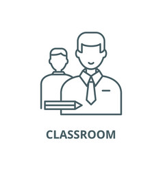 classroom line icon classroom outline vector image