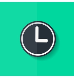 Clock web icon button Time symbol Flat design vector image