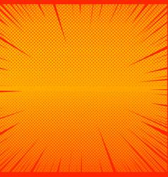 Comic orange explosive background vector